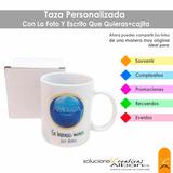 Tazas Personalizadas Cerámica Blanca 11oz + Cajita De Regalo