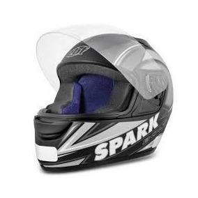 Capacete New Spark Bolt - Preto Fosco/prata