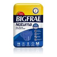 Fralda Bigfral Noturna Tamanho M 8 Unidades