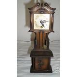 Antiguo Reloj A Cuerda Aleman Estilo Grandfather Madera Func