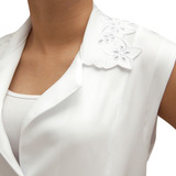 Jaleco Branco Tecido De Microfibra Produto Ótima Qualidade