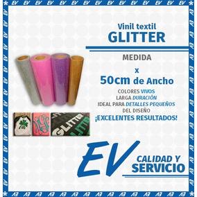 Vinil Textil Glitter Holograma Imprimible 1m Por 50cm