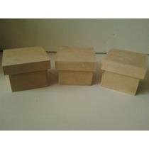 Cajitas En Fibro Para Souvenirs De 5x5x4 Cm Con Tapa Zapato