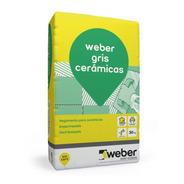 Pegamento Gris Cerámicas Weber 30 K Pared Piso Interior Mm