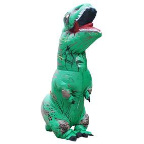 Disfraz De Dinosaurio Inflable Adulto Verde