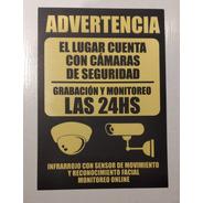 Cartel Camaras Vigilancia 29 X 21 Alto Impacto Plástico