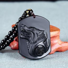 Collar Lobo De Obsidiana