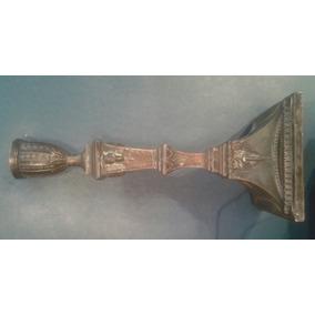 Antiguo Candelabro Candelero Estilo Ingles Platado