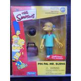 Simpsons Pin Pal Burns Playmates