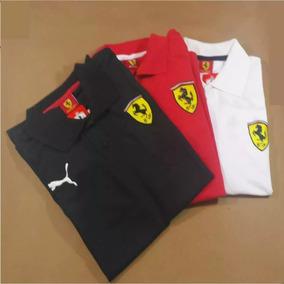 Pacote C/5 Camisas Gola Polo Masc Ferrari Liquidação Total