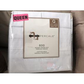 Jogo De Lençol Para Cama Queen Size, 600 Fios Percal.