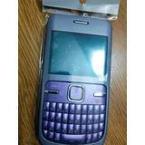 Carcaza Nokia C3 Completa Color Lila