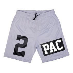 Bermuda 2 Pac Calção Hip Hop Swag Kings Dryfit Short Largo