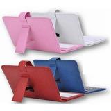 Capa Com Teclado Universal P/tablet 7 Com Cabo Otg V8