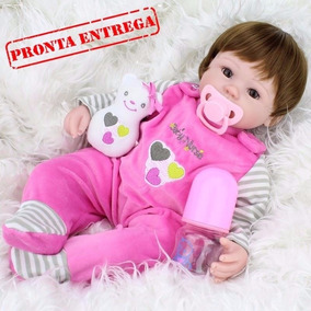 Bebe Reborn Larinha Rosa - Em Estoque Apronta Entrega - 12x