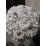 Bouquet Buquê De Flores Rosas De Seda À Pronta Entrega