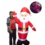 Papai Noel Inflavel Natal Led Colorido Grande 1.90m Enfeite