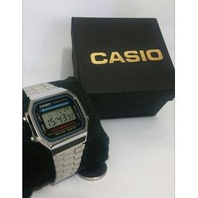Relógio Cassio Retro Prata + Caixa + Frete Grátis