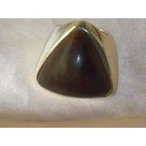 Elegante Anel Fr Vintage C/banho Prata/fibra De Coco,déc.90
