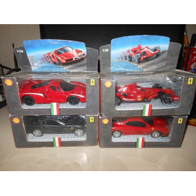 Miniaturas Ferrari Shell V-power 1:38 4 Carros