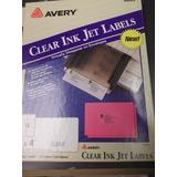 Avery Etiquetas Transparentes 8663 (made In Usa) Ink-jet