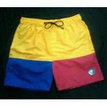 Shorts Playeros Combinados Para Caballeros Y Niños
