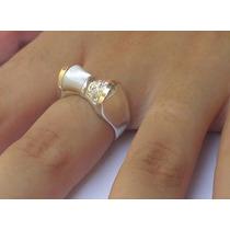 Anel Feminino Prata 950 Com Madrepérola Zircônias E Ouro 12k
