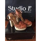 Sandalias Studio F Color Marron