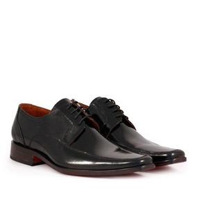 Zapatos De Charol Negro De Hombre Batistella
