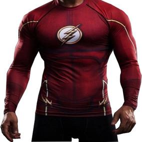 Remera Flash Compresion Serie Barry Dc Comics Bvs Superheroe