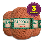 Barbante Barroco Maxcolor 400g N6 7259 Bronze Kit 3