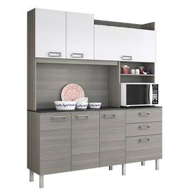 Cozinha Compacta Itatiaia Açai 7 Portas E 2 Gavetas Branco