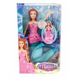 Muñeca Fashion Mermaid Transforma Tu Sirena En Princesa