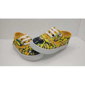 Hermosas Zapatillas Minions Talles 19 Al 26