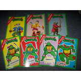 Lote 7 Invitaciones Cumpleaños Tortugas Ninjas Tipo Postal