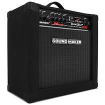 Caixa Amplificada Para Contra Baixo Sound Maker Cube B30 Som