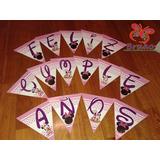 Souvenirs - Banderín Feliz Cumpleaños - Minnie Bebe - Y Más