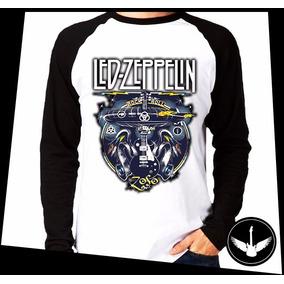 Manga Longa Led Zeppelin Banda Rock Camisa Blusa Comprida 01