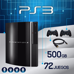 Playstation 3 Ps3 500gb 72 Juegos + Hdmi + 2 Joystick Online