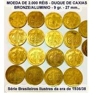 Moedas De 2.000 Réis Caxias 1938 -10 Unidades - Cod.032