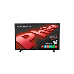 Smart Tv Led Philco 32 Wifi Integrado E Android Preto
