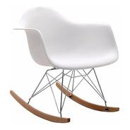 Sillon Mecedor Eames Rocking Diseño Moderno Base Cromada