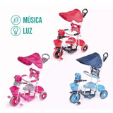 Triciclo Infantil Bebe Manija + Música + Luz Baby Shopping