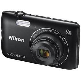 Camara Nikon Coolpix A300 Negra 20 Mp 8x Zoom Optico
