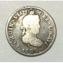 Moneda Potos 1/2 Real 1822. Fernando Vii. Plata