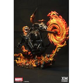 Xm Studios Ghost Rider / Motoqueiro Fantasma Statue - Xm Exc