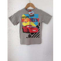 Playera Cars Lighting Mcqueen Infantil Niño Disney Pixar