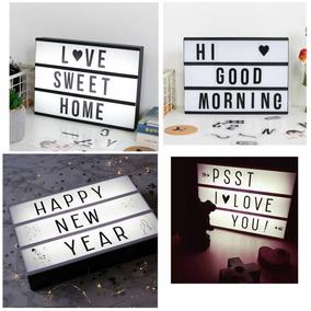 Cartel Luminoso Led Letras Numeros Lightbox Tablero Mensajes