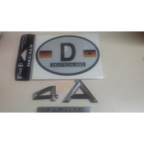 Emblema Audi A 4 Y Calca Bandera Alemana (reflejante)
