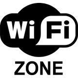 Adesivos Wifi 2 Unidades Posto De Gasolina Carro Parede